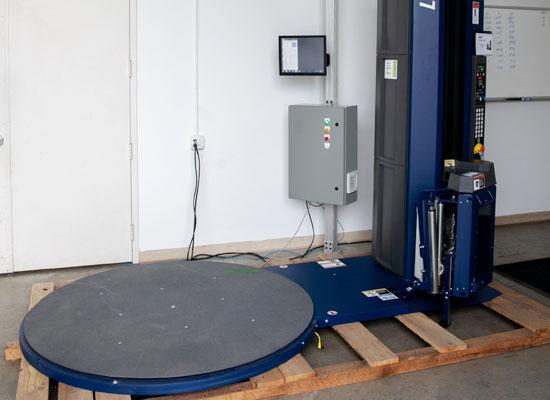 pallet wrapper dimensional scanning system