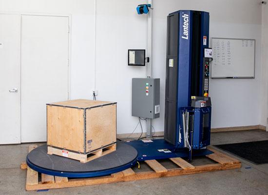 pallet wrapper dimensional scanner