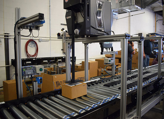 sprinter automated shipping label applicator